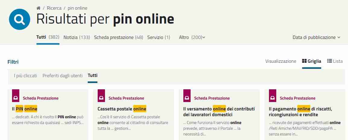 Richiedere il Pin Inps online