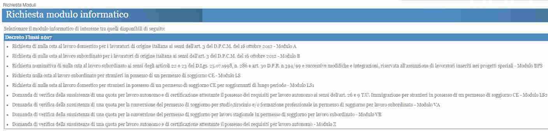 Modulo B Decreto Flussi 2017