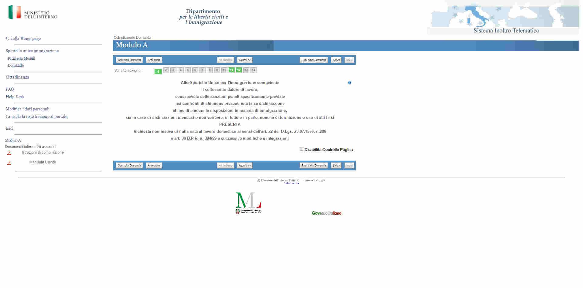 Modulo A Decreto Flussi 2017