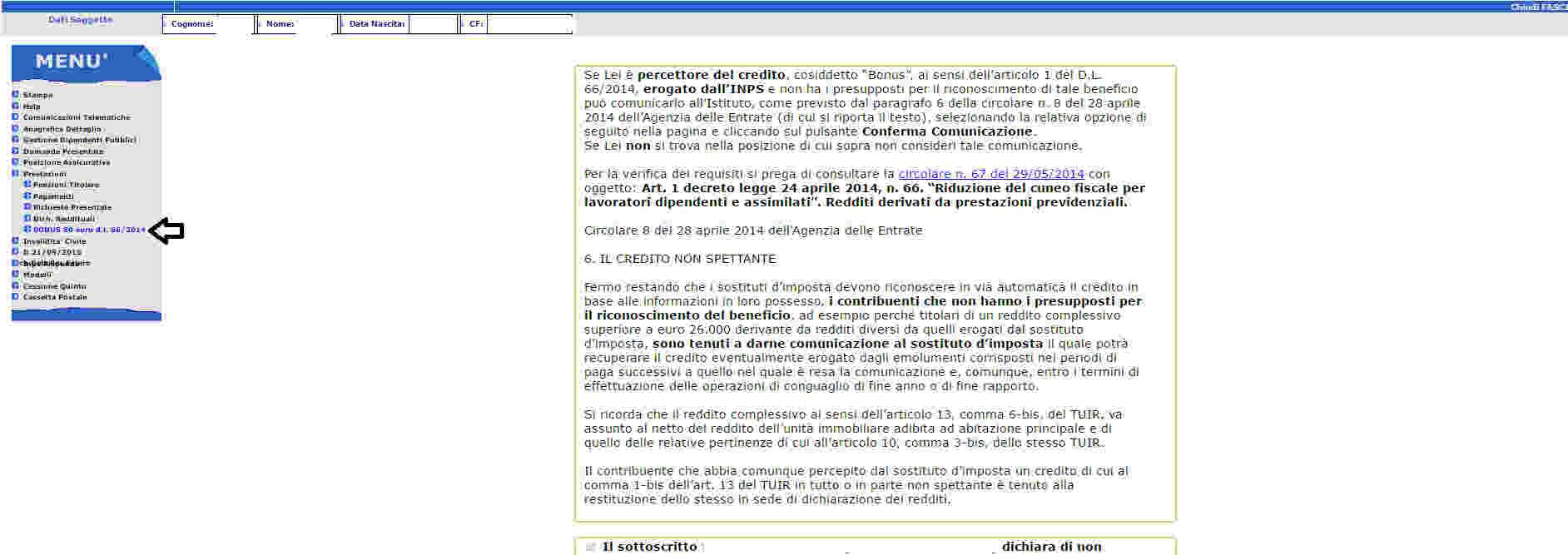 Revoca Bonus 80 euro su Naspi