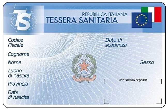 Tessera sanitaria Puglia