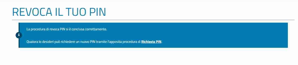 Procedura telematica per revocare il Pin Inps online