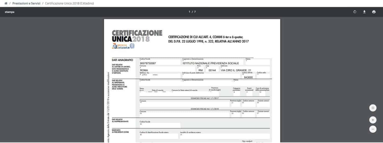 Come richiedere la Certificazione Unica