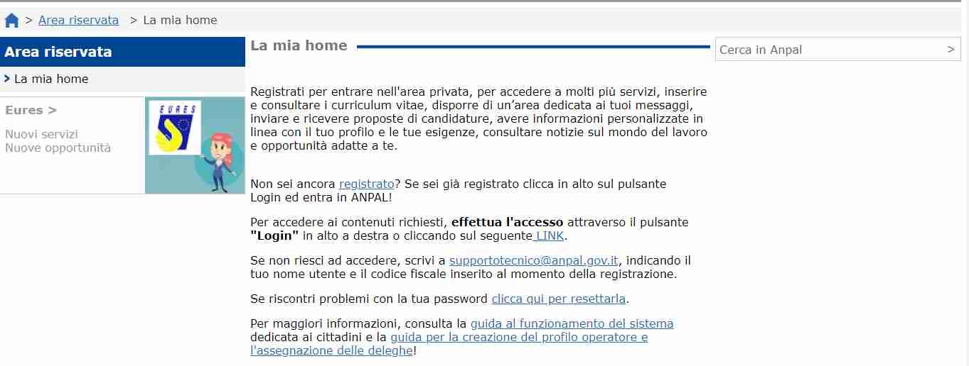 Richiesta Did online Anpal