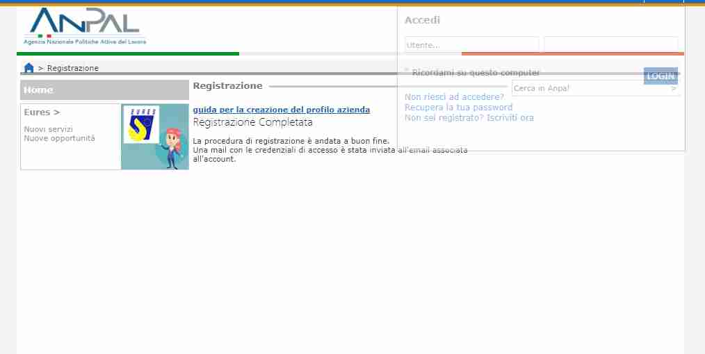 La procedura telematica per richiedere la Did online Anpal