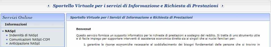 Domanda di disoccupazione Naspi Informazioni