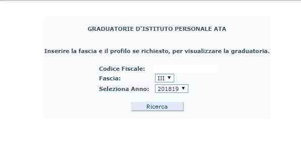Graduatorie Ata terza fascia 2018