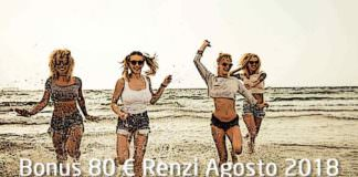 Pagamento Bonus Renzi Agosto 2018