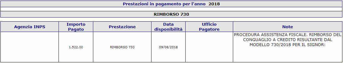 Pagamento rimborso 730 disoccupazione agricola 2018