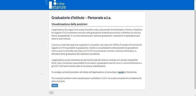Punteggio personale Ata e graduatorie definitive