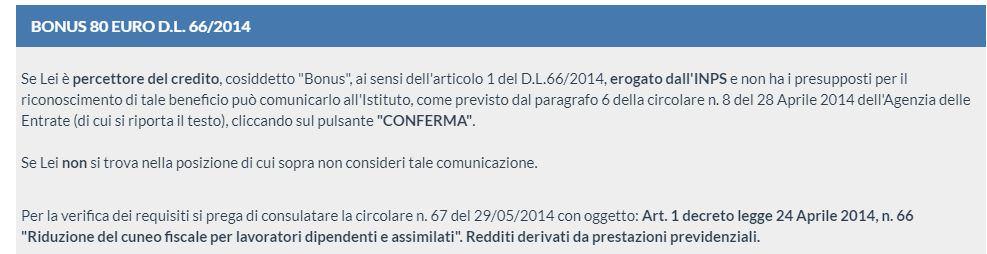 Rinuncia Bonus Renzi su Naspi