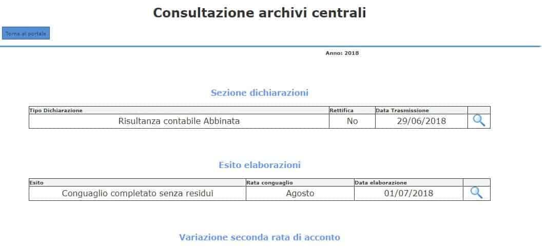 Consultazione rimborsi o trattenute Inps da 730 2018