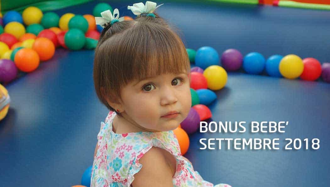 Quando arriva il Pagamento Bonus bebè Settembre 2018
