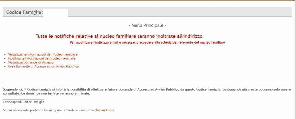 Crea domanda di accesso Regione Puglia