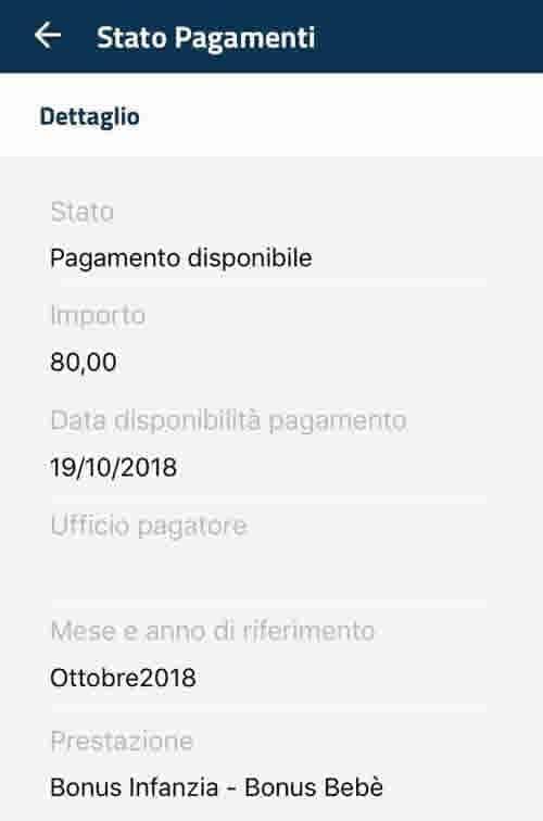 Visualizza la data di pagamento del Bonus Bebè a Ottobre 2018