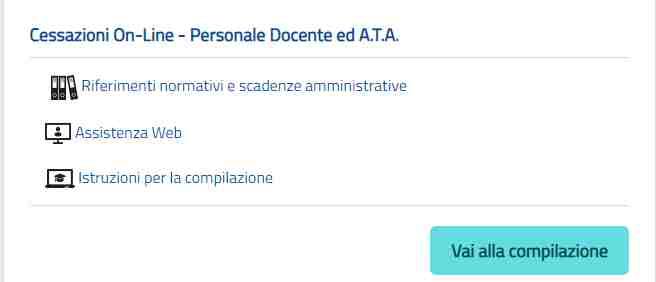 Cessazione istanza online personale docente e Ata