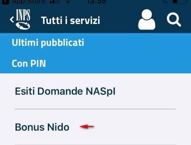 App Inps Bonus asilo Nido 2019
