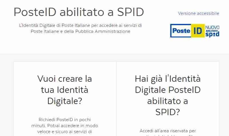 Spid Rdc con Poste Italiane