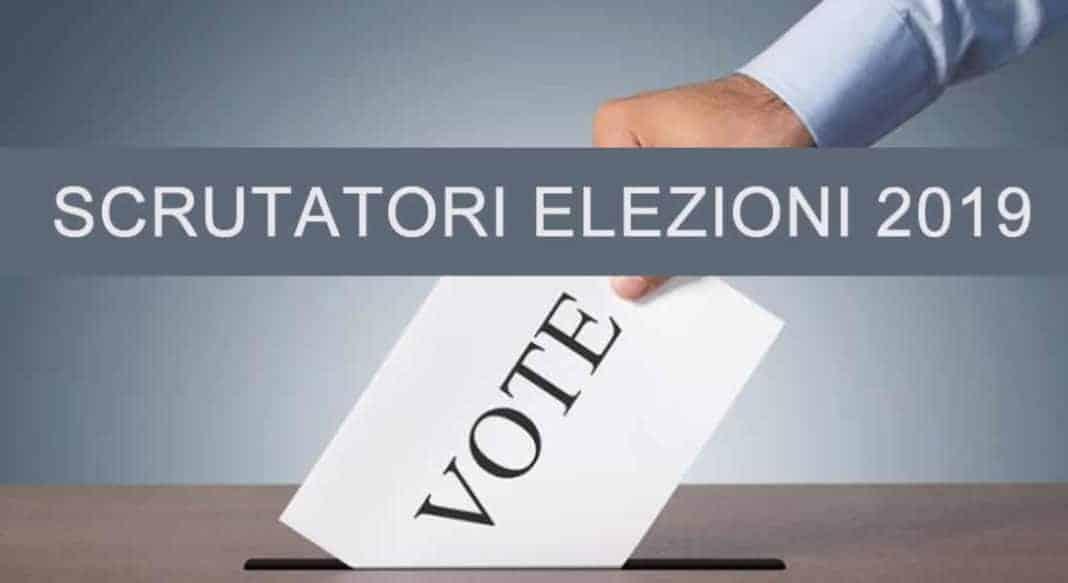 compenso scrutatori elezioni europee Comunali e Regionali 2019
