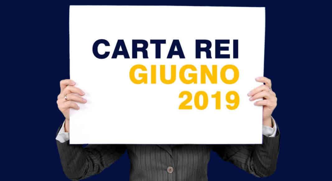 Calendario Pagamenti carta REI Giugno 2019