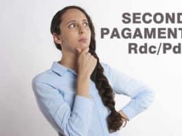 Quando arriva il secondo pagamento Rdc e Pdc?