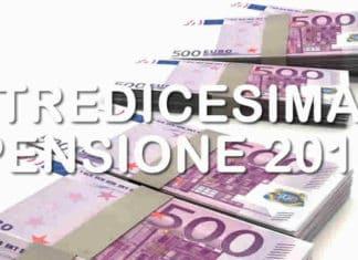 pagamento tredicesima pensionati inps 2019 - calcolo e quando