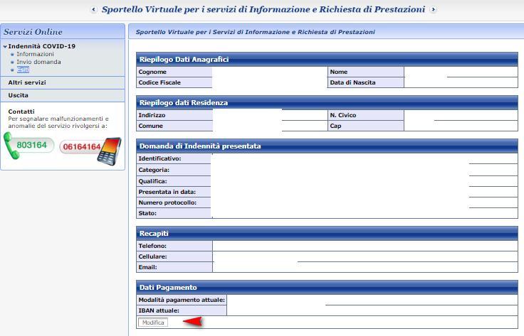 Modifica codice IBAN bonus 600 euro