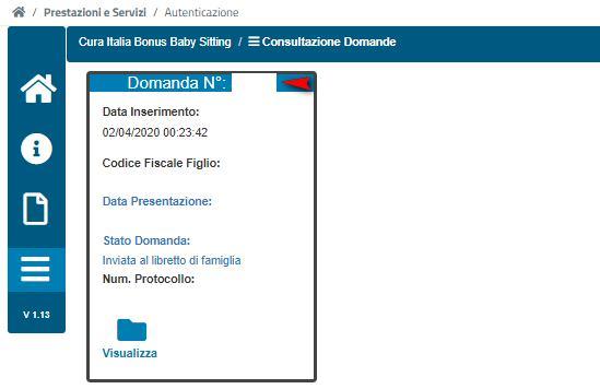 Numero domanda bonus 1200 euro