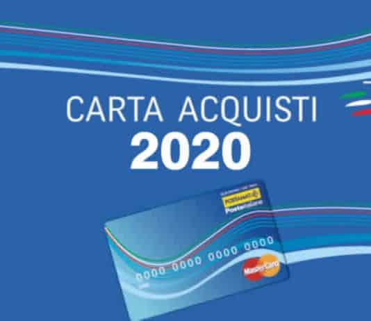 La Carta Acquisti 2020 Poste Inps