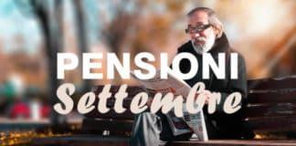 Date pagamenti pensioni Settembre 2020 inps