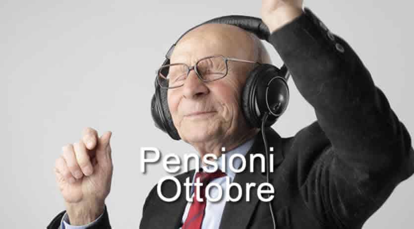 quando pagano pensioni Ottobre 2020