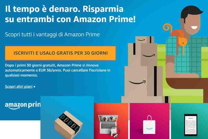 Iscriviti ad Amazon Prime