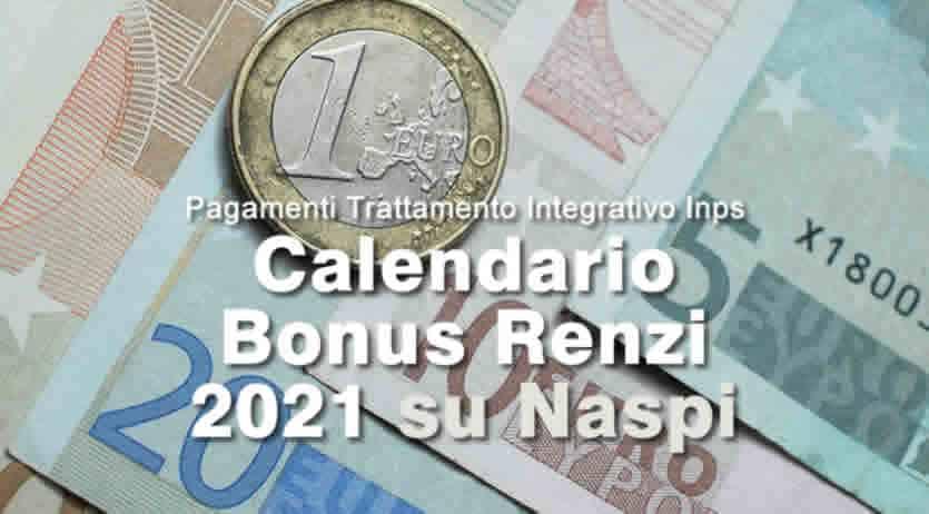 Naspi 2021 Calendario Trattamento Integrativo Naspi Pagamento 2021   Bonus Renzi