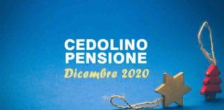 quando arriva cedolino dicembre 2020 pensione