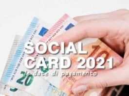 Calendario Ricarica Social Card Inps 2021