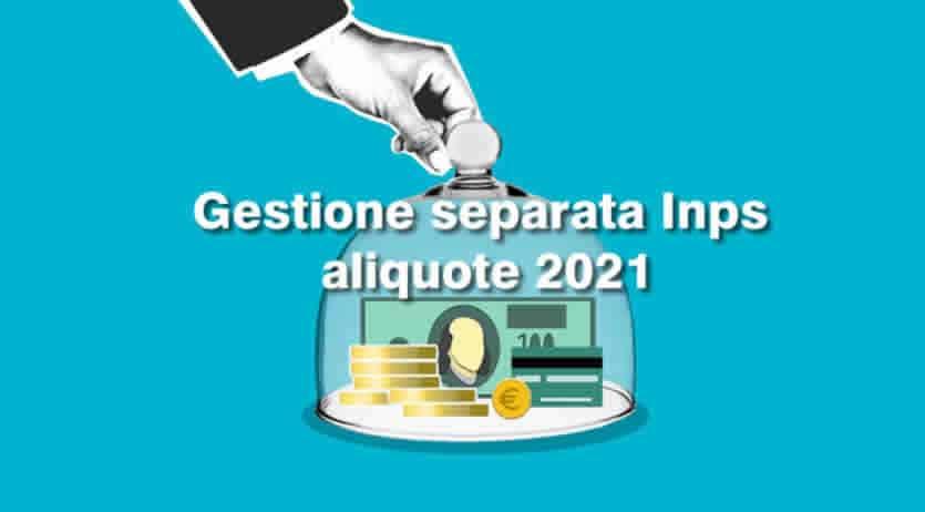 Aliquote e Novità 2021 Gestione separata