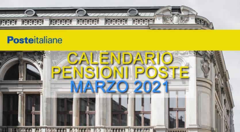 Pagamento pensioni marzo 2021 poste italiane