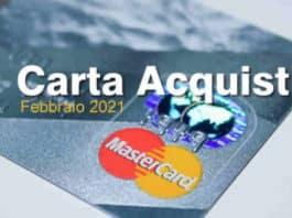 pagamento carta acquisti febbraio 2021