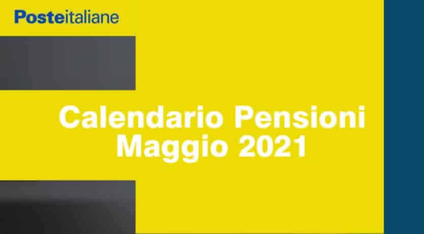 Calendario Poste INPS Maggio 2021 Pensioni