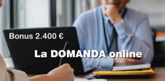 Inps bonus 2400 euro domanda online