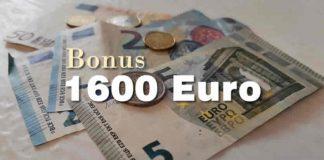 1600 euro bonus sostegni bis