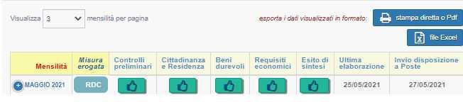 Pagamento RDC Maggio 2021 Poste Italiane