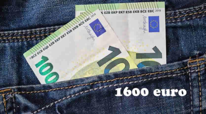 Quando arriva il bonus Inps di 1600 euro?