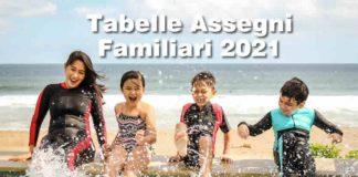 Nuove tabelle ANF 2021 con maggiorazioni