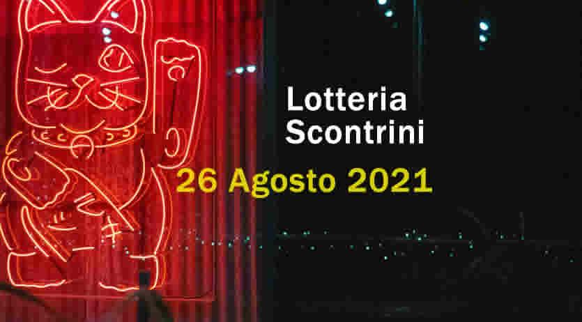 estrazione lotteria scontrini 26 Agosto 2021