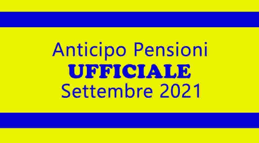 Protezione civile pensioni settembre 2021