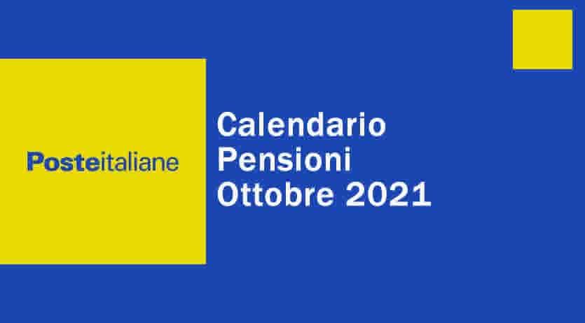 calendario ufficiale poste italiane ottobre 2021