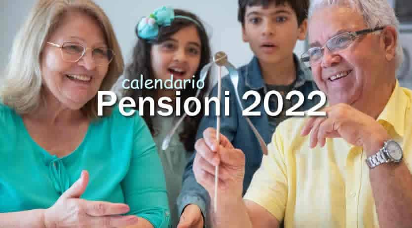 date di pagamento pensioni inps 2022