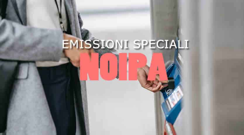 Emissioni speciali Noipa Arretrati di Settembre e Ottobre 2021