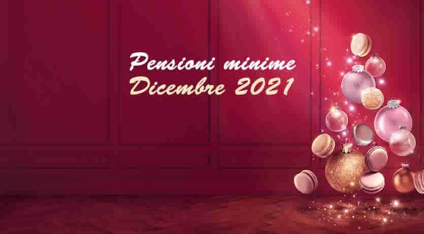 Importo pensione minime a Dicembre 2021